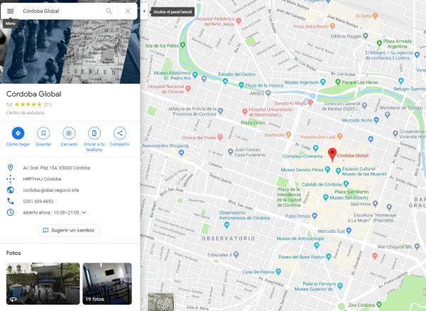 Ficha de Mi Negocio en Google Maps